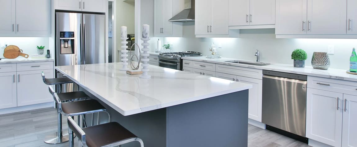 Kitchen with a stove, dishwasher, and refrigerator - Major appliances industry insight